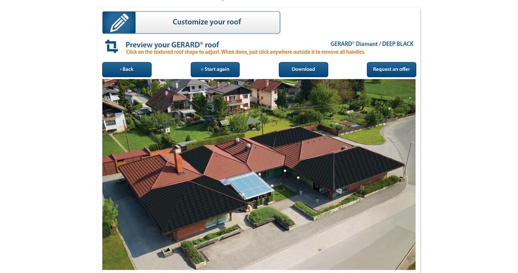 Видете како ќе изгледа вашата куќа со покривот GERARD!